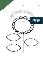 Flower Brainstorming Sheet
