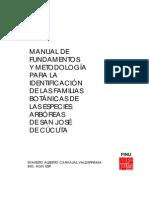 Manual Identificación Especies Árboreas Cúcuta
