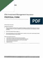 ACE Insurance Trio Proposal Form