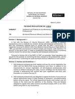 BIR Revenue Regulations 4-2014