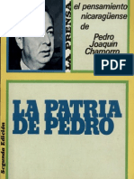 La Patria de Pedro El Pensamiento Nicaraguense de Pedro Joaquin Chamorro