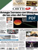 Periódico Norte de Ciudad Juárez edición impresa del 22 abril del 2014