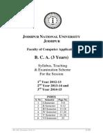 BCA Session 2012-13 Syllabus BCA