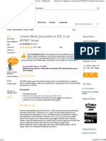 Convert Word-Documents to PDF on an ASP