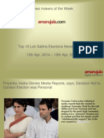 Top 10 Lok Sabha Elections News in Hindi_13_Apr_19th_Apr_2014.ppt