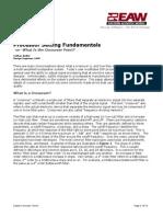 Processor Setting Fundamentals