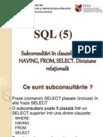 015 SQL5 SELECT Subconsultari