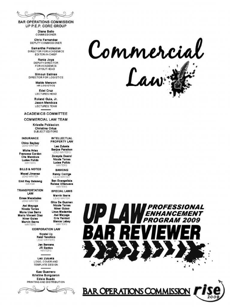 2009 commercial law reviewer