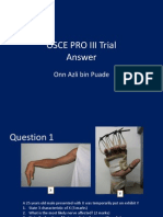 Osce Pro III Trial Answer