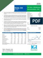 Pakistan State Oil Nov 2007 Stock Valuation