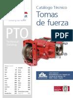 PTO catalog from Bezares SA - Catalogo de tomas de fuerza de Bezares SA