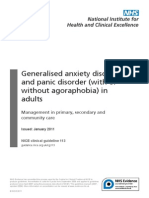 Generalised anxiety disorder and panic disorder (with or without agoraphobia) in adults - Management in primary, secondary and community care