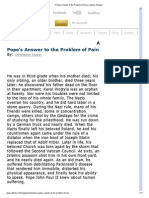 A Pope's Answer to the Problem of Pain _ Catholic Answers