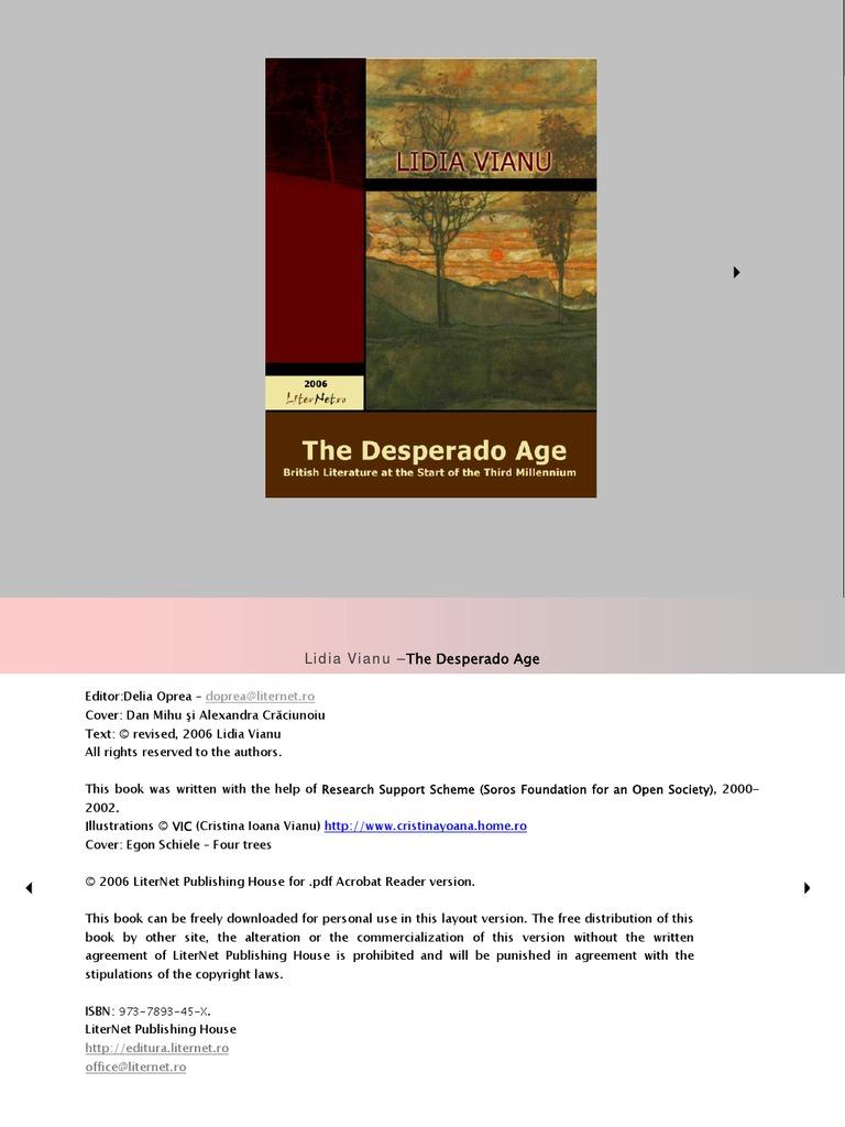 Lidia vianu the desperado age dystopia novels fandeluxe Gallery