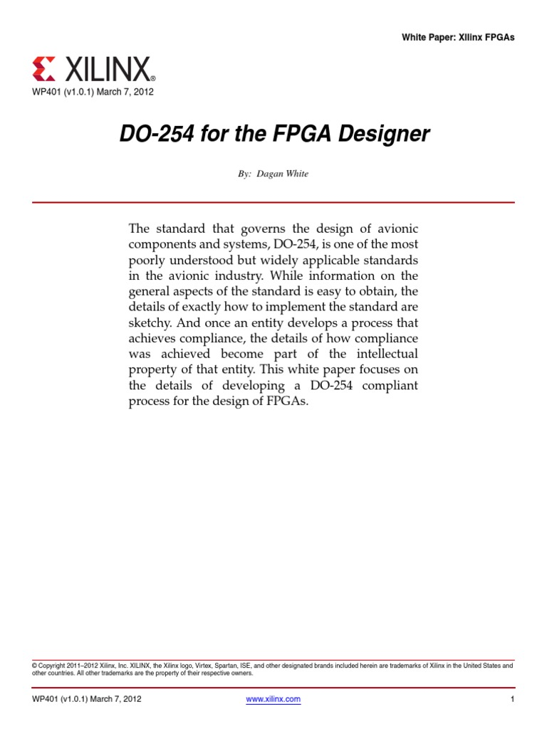 Do254 fpga designer field programmable gate array verification and validation