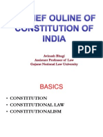 A Brief Outline of Consitution of India