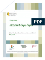Biogas Projects GIZ - Introduction