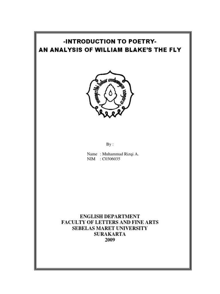 little fly analysis william blake poetry
