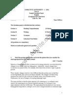 Class 10 Cbse English Literature Sample Paper Term 1 2011