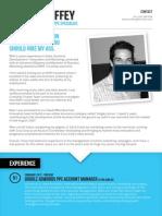 Eamon Chiffey Marketing CV