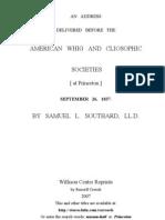 1837 N.J. Gov. Southard Political Discourse Princeton