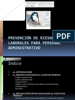 Prevencixn de Riesgos Laborales en El Trabajo en Oficinas