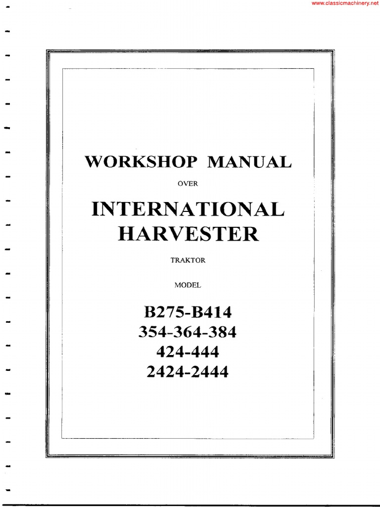 ih b275 b414 354 364 384 424 444 2424 2444 vhb sec wat unlocked by rh scribd com 354 International Tractor Specs International 454 Tractor Craigslist