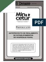 Reglamento Hospedaje Rural