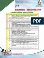 Calendario i Semestre 2014