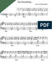 Say Something piano sheet