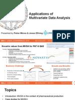 UC2013 Umetrics PetterMoree ApplicationsOfMultivariateDataAnalysis