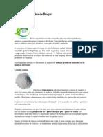 Limpieza Ecologica Del Hogar