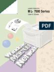 Ml700p Printer Manual