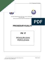 Pk 17 Pengurusan Perolehan