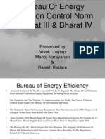 Bureau of Energy Emission Control Norm -Bharat