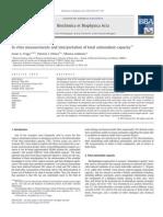 In Vitro Measurements and Interpretation of Total Antioxidant Capacity