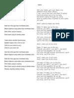 Lirik Lagu Indonesia dan Mancanegara