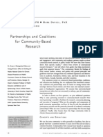 Green, Daniel, Novick - 2001 - Partnerships and Coalitions for Community-based Research