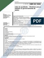 ABNT NBR ISO 10006 - Gestão Da Qualidade - Diretrizes Para a Qualidade No Gerenciamento de Projetos