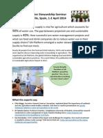 SAI Platform Water Stewardship Seminar Report