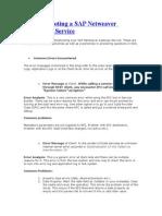 Troubleshooting a SAP Netweaver Gateway Service