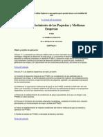 Ley de Fortalecimiento de Las Pequenas y Medianas Empresas