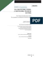 Covarrubias Dueñas, José de Jesús, La Justicia Constitucional Federal, La Cuestión Constitucional Prejudicial Electoral