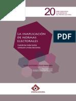 Cruz Oarcero Juan Antonio, La Inaplicación de Normas Electorales