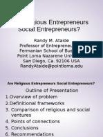 Are Religious Entrepreneurs Social Entrepreneurs
