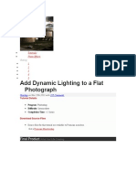 Add Dynamic Lighting to a Flat Photo
