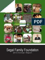 2013 Segal Family Foundation Annual Report