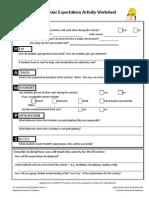 Classroom Behavior Activity Worksheet