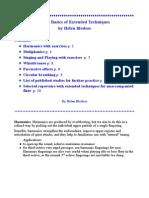 Tècniques bàsiques exteses d'interpretació per a la flauta