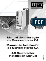 WEG Manual de Instalacao de Servomotores CA 10017695 Manual Portugues Br